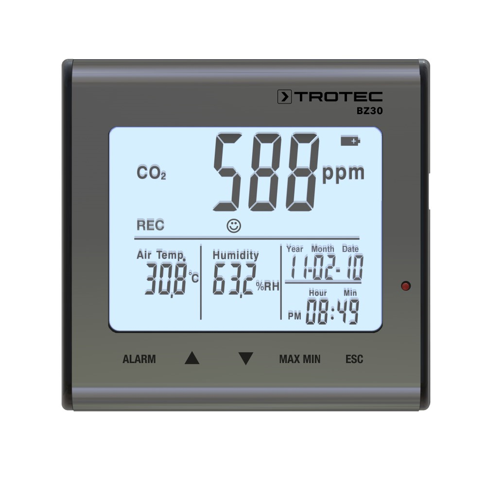 Air Quality Data Logger CO2 Trotec BZ30