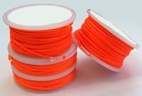 Bear Bobbin of Orange Nylon Cord