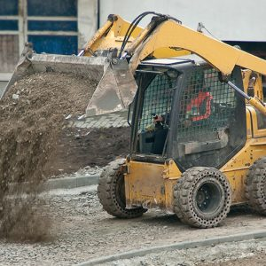 Skidsteer using CL5000 weighing system