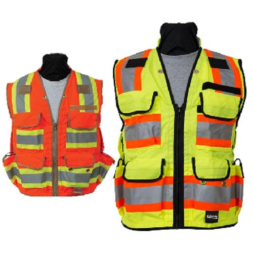 Class 2 Safety Utility Vest – Flo Orange or Flo Yellow